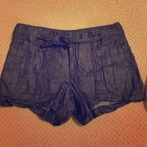Denim/Linen shorts